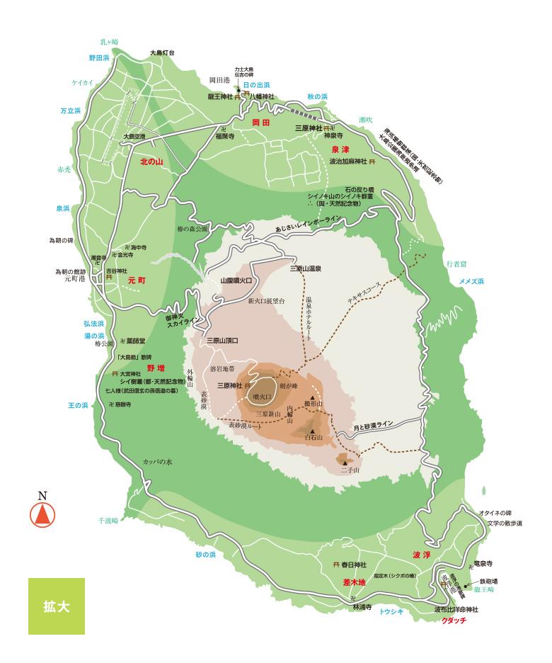 大島の地図