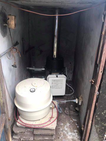 浴槽用の追い炊きボイラー