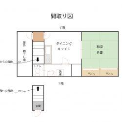 岡田港と元町港の中間にある賃貸物件2階のお部屋